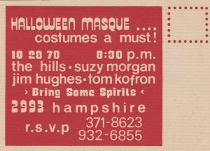HALLOWEEN Ghost, 1978 ; Halloween Masque..Costumes a Must!,