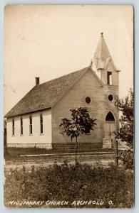 Archbold Ohio~Missionary Church~Needs Paint Job~New Tree Across Street 1912 RPPC