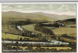 Selkirkshire; Meeting Of Rivers Tweed & Ettrick PPC By Edwards, 1905 PMK