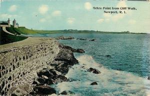 Newport Rhode Island~Ochre Point From Cliff Walk~1910 Postcard
