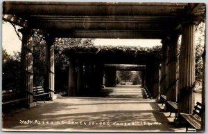 KANSAS CITY, Missouri RPPC Postcard Paseo on Tenth Street BUTCHER Photo c1910s