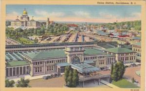 Rhode Island Providence Union Station Curteich