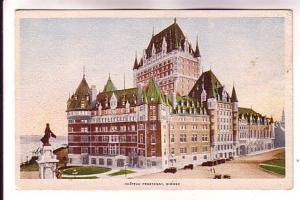Chateau Frontenac, Statue, Quebec, Printed in Canada