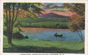 New York Greetings From South Fallsburgh 1937