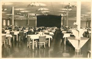 Wesermünde Mitte Germany Dining Hall, Shiny Floor~RPPC by Schemkes 1940s
