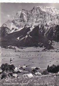 Austria Lermoos im Tirol mit Zugspitze 1961 Real Photo