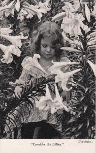 Girl & Flowers , PU-1907