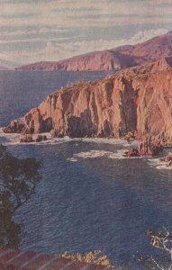 Acapulco Mexico Antique Art Painting Postcard