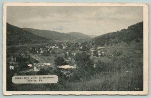 Galeton Pennsylvania~Clintontown Birdseye View~Overlooking Town in Valley~1945