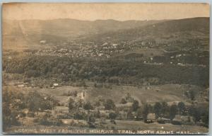 NORTH ADAMS MA from MOHAWK TRAIL ANTIQUE REAL PHOTO POSTCARD RPPC