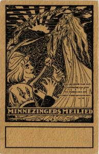 CPA Angel Lady and a Musician with a Lute ANGELS (777377)