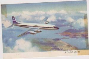 Douglas Aircraft Co. B.O.A.C. DC-7C Airliner in Flight