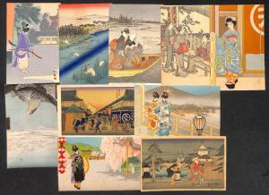 Japan japanese art rare lot 25 vintage postcards