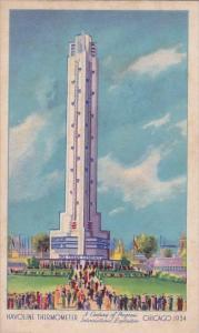 Havoline Thermometer Century Of Progress International Exposition Chicago Wor...