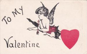 Valentine's Day Cupid and Red Heart