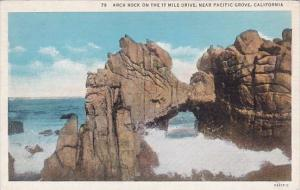 California Pacific Grove Arch Rock On The 17 Mile Drive