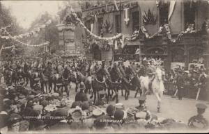 Warwickshire Yeomanry Royal Visit Birmingham July 1909 army military