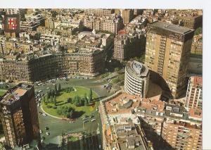 Postal 042155 : Barcelona. Plaza Calvo Sotelo vista aerea