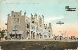 EGYPT Oasis d'HELIOPOLIS - boulevard circulaire tramway aircrafts bi-planes
