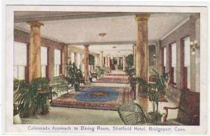 Dining Room Approach Stratfield Hotel Bridgeport Connecticut postcard