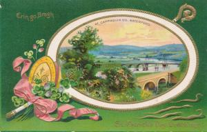St Patrick's Day Greetings - Scene at Cappaquin, Co Waterford, Ireland - DB