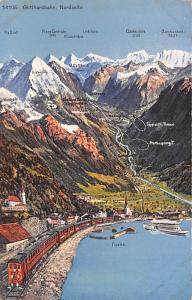 Switzerland Old Vintage Antique Post Card Gotthardbahn Nordseite Unused