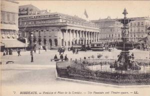 Fontaine et Place de la Comedie, The Fountain and Theatre Square, Bordeaux, G...