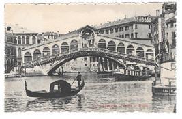 Italy Venice Venezia Ponte di Rialto Gondola Canal Bridge Vintage Postcard
