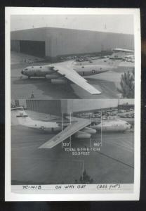 REAL PHOTO UNITED STATES AIR FORCE AIRPLANE YC-141B BOMBER AVIATION PHOTOGRAPH