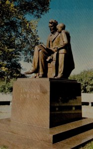 Illinois Springfield Lincoln and Tad Statue