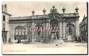 Old Postcard Nancy Fountain Square and Callot