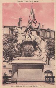 Nancy Artistique Statue De Jeanne D'Arc Joan Of Arc Antique Postcard