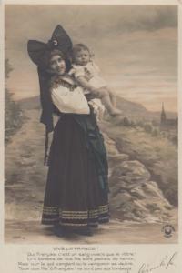 RP: Viva La France! , 1918 ; Girl & Baby