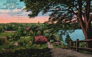 Lenawee County, MI, Overlooking State Park, 1953 Linen Vintage Postcard g8913