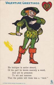 TUCK #5, VALENTINE Greetings,Absurd Amateur Actor in costume, 00-10s
