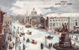 Unter Den Linden, Berlin, Germany, Early Postcard, Used in 1906