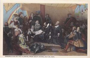 Embarkation of Pilgrims from Delft Haven - View in Capital Rotunda Washington DC