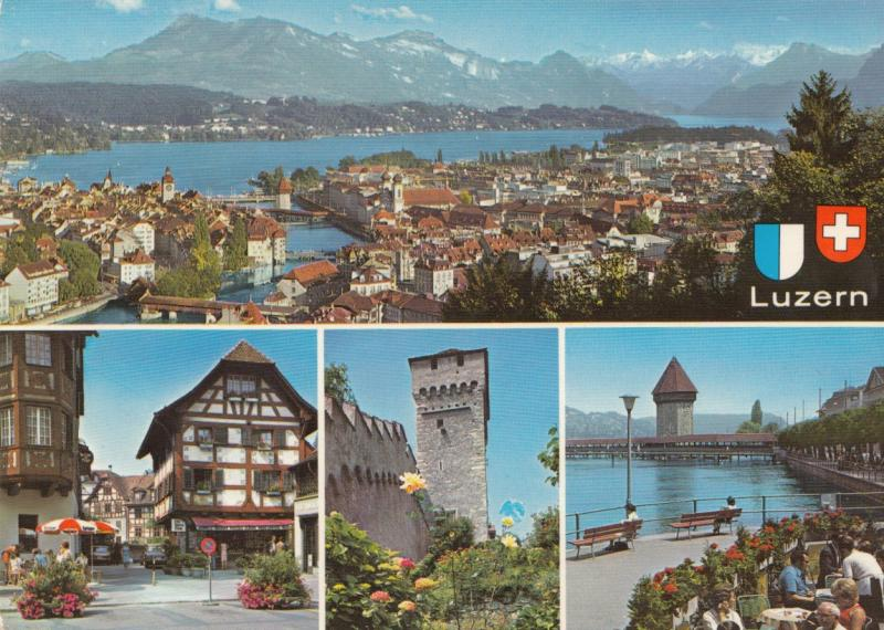 Switzerland, Suisse, Luzern, Lucerne, 1983 used Postcard