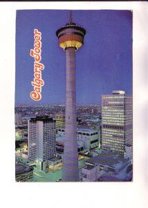 NIght View, Tower and City, Calgary  Alberta, Photo Bill Bard Colour