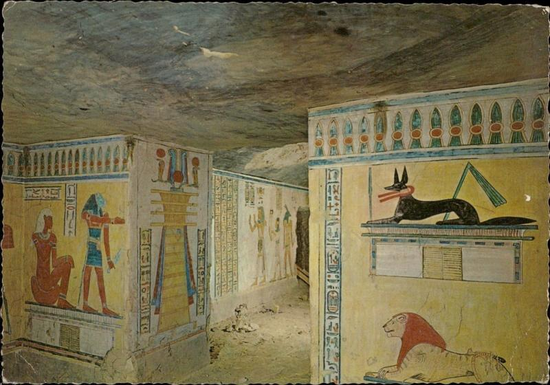 Luxor Queen's Valley Mural painting Tomb of Chmwes Egypt