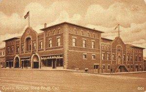 Opera House, Red Bluff, California Tehama County ca 1910s Vintage Postcard