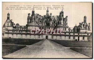 Old Postcard Chambord Chateau Chambord was a historical monument Chateau Plai...