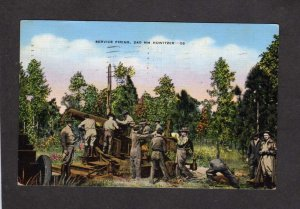 NC Military Firing Howitzer Guns Fort Bragg ? North Carolina US Army Postcard