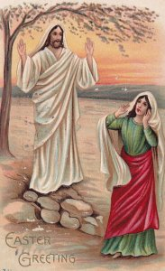 EASTER, PU-1910; Greeting, Resurected Jesus Christ appears to Mary Magdelin