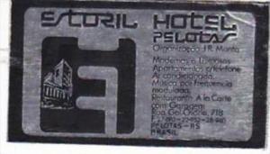 BRASIL PELOTAS ESTORIL HOTEL VINTAGE LUGGAGE LABEL