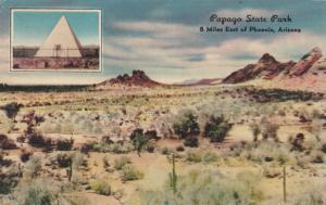 PHOENIX, Arizona, 30-40s ; Papago State Park, Hunt's Tomb