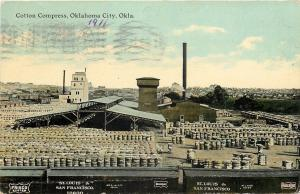 Oklahoma City~Cotton Compress Factory~Brewery~STL&SF RR~Frisco Line~1911 PC