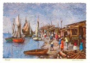 Haiti Painting, Red Carpet Art Gallery, Petionville, Haiti, 50-70s