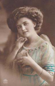 RP; Woman wearing colorful dress, 00-10s