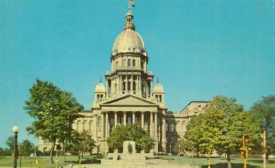 Illinois State Capitol, Springfield Illinois, unused Post...